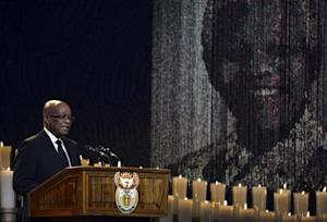 South Africa President Jacob Zuma speaks during the funeral ceremony for former South African President Nelson Mandela in Qunu December 15, 2013. REUTERS/Odd Andersen/Pool