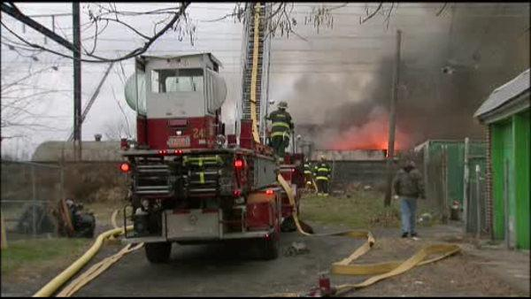 Rail service restored after 4-alarm Frankford fire