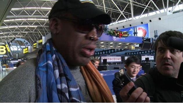 Ex-NBA star Dennis Rodman returns to North Korea