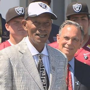 Raw Video: Oakland Raiders Present Donation For Napa Earthquake Relief