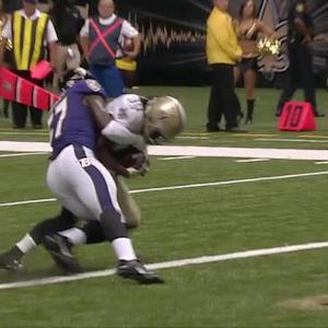 New Orleans Saints quarterback Luke McCown 3-yard touchdown pass to running back Travaris Cadet