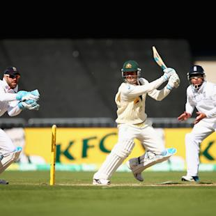 The Ashes: Positive start for England in Adelaide