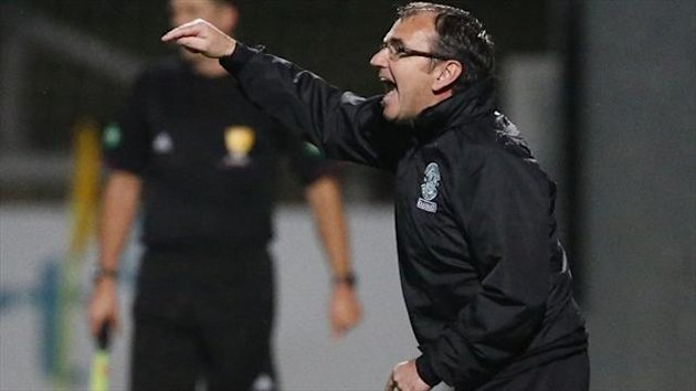 Pat Fenlon's, pictured, Hibs failed to test Thistle goalkeeper Scott Fox until Liam Craig struck in the 68th minute