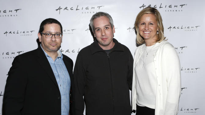 """IMAGE DISTRIBUTED FOR ARCLIGHT CINEMAS -President of Mission Control Jonathan Josell, Grand Prize winner Kief Davidson from film """"Open Heart"""" and Arclight's Executive Vice President Cinema Programming Gretchen McCourt attend Arclight Cinemas' 2nd Annual Documentary Film Festival Awards at the Arclight Hollywood on Saturday Nov. 10, 2012 in Los Angeles.(Photo by Todd Williamson/Invision for Arclight Cinemas/AP Images)"""
