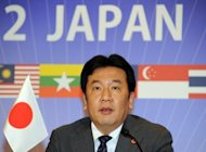 Japanese Industry Minister Yukio Edano in Tokyo on April 28. Japan&#39;s government will take a controlling stake in the operator of the Fukushima nuclear plant under a plan ministers approved Wednesday, effectively nationalising one of the world&#39;s largest utilities