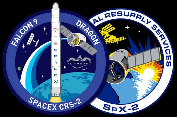SpaceX's Next Space Station Resupply Flight Gets Mission Patches