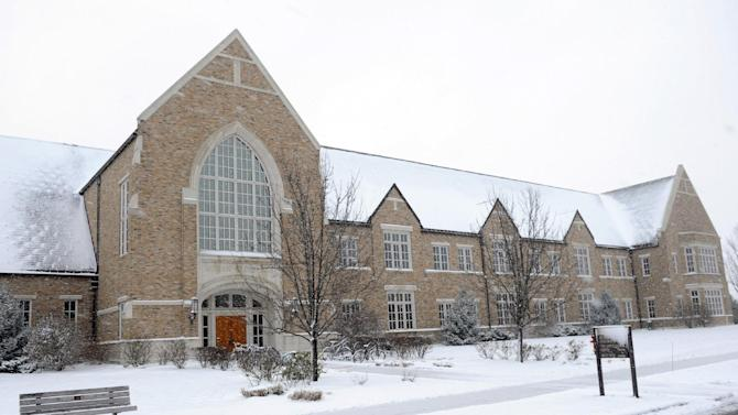 This Dec. 26, 2012, photo shows the Guglielmino Athletics Complex on the campus of the University of Notre Dame in South Bend, Ind. (AP Photo/Joe Raymond)