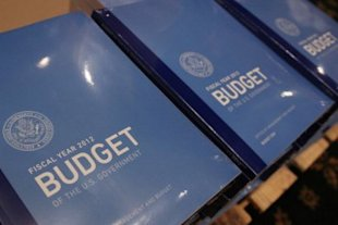 President Obama's budget,r eady for delivry to Congress. Photo by Getty Images