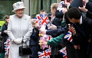 Britain on Saturday kicks off four days of celebrations to mark the diamond jubilee of Queen Elizabeth II, seen here on May 15, including a 1,000-boat river pageant and a star-studded concert