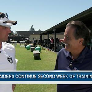 Oakland Raiders head coach Dennis Allen on linebacker Khalil Mack: 'He's doing outstanding'