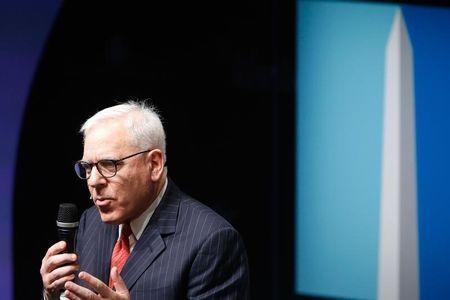 Carlyle Group co-founder and CEO David Rubenstein participates in the Washington Ideas Forum, in Washington