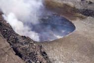 The lava lake in Halemau&#39;ma&#39;u crater at the summit of Kilauea volcano on Jan. 10, 2013.