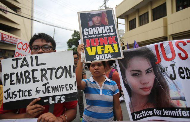 A US Marine has been convicted of killing a transgender woman in the Philippines
