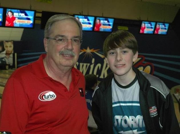Middle school bowler Kamron Taylor at the 2012 U.S. Open — Doyle family photo