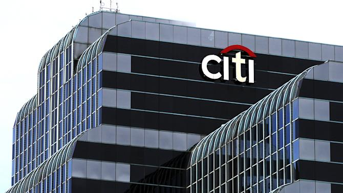 Citi Bank sign in Chicago.