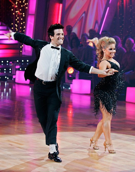 Shawn Johnson and Mark Ballas perform the Cha-Cha-Cha to &quot;P.Y.T. (Pretty Young Thing)&quot; by Michael Jackson on &quot;Dancing with the Stars.&quot;