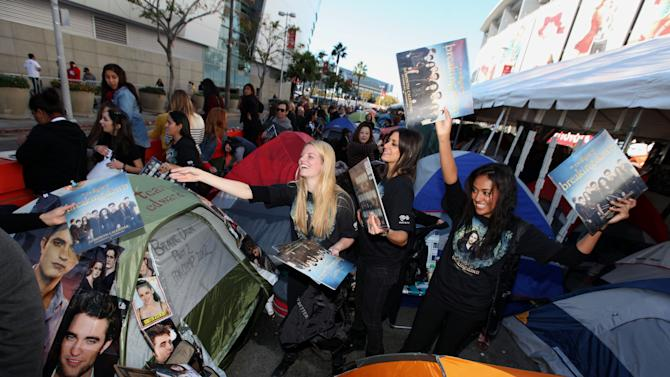 IMAGE DISTRIBUTED FOR TIME WARNER CABLE - Fans are seen at the Time Warner Cable and Twilight Fan Breakfast on Sunday, Nov. 11, 2012 in Los Angeles. (Photo by Casey Rodgers/Invision for Time Warner Cable/AP Images)