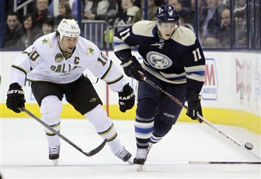 Eriksson's OT goal lifts Stars past Blue Jackets