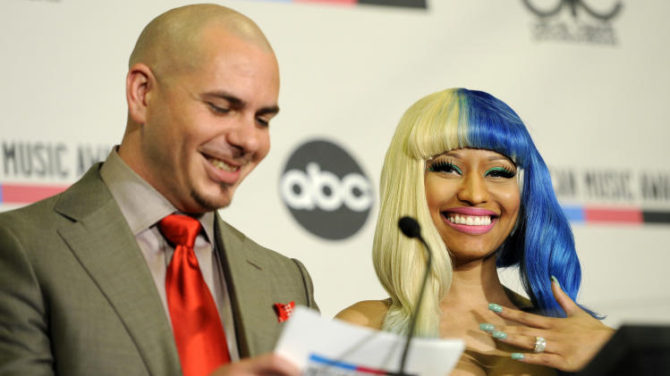 performer Nicky Minaj announce nominations for the 2011 American Music ...