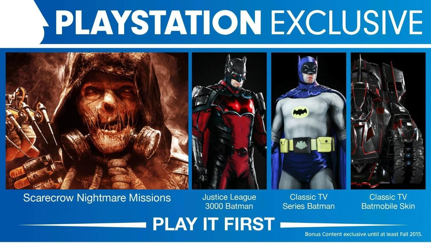 Arkham Knight's PS4-Exclusive Content Not Exclusive Forever