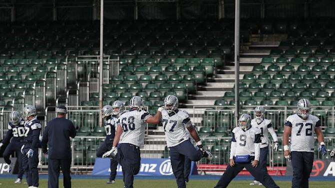 session, in London, Friday, Nov. 7, 2014. Dallas Cowboys will play