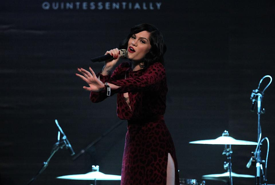 Singer Jessier J performs at the amfAR Cinema Against AIDS benefit during the 65th Cannes film festival, in Cap d'Antibes, southern France, Thursday, May 24, 2012. (AP Photo/Joel Ryan)