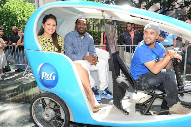 Television personality Vanessa Lachey and football player Hakeem Nicks join Procter & Gamble in New York, Wednesday, June 19, 2013, to kick-off The #EverydayEffect campaign, which aims to show consume