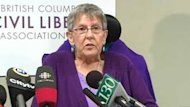 Gloria Taylor spoke publicly about winning the right to an assisted suicide, on Monday in Vancouver.