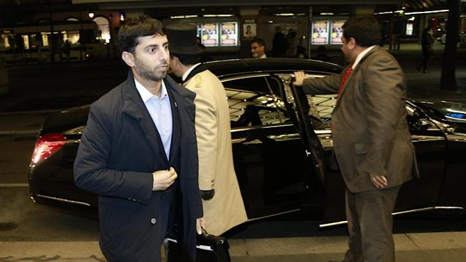 United Arab Emirates Minister of Energy Suhail al-Mazrouei arrives at the Hotel Bristol on November 25, 2014 prior to the start of the 166th OPEC Meeting in Vienna, Austria