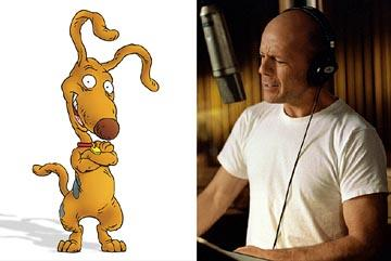Bruce Willis does the voice of Spike the dog in Paramount's Rugrats Go Wild