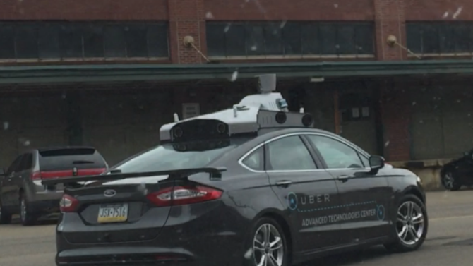 A first look at Uber's car for self-driving research