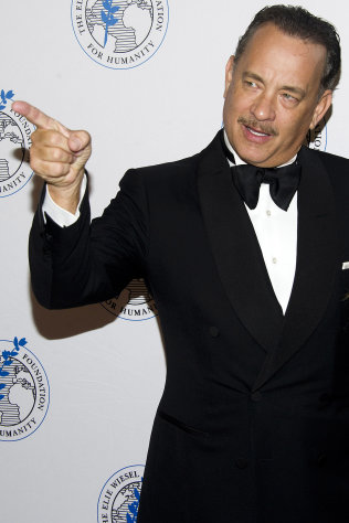 Honoree Tom Hanks attends The Elie Wiesel Foundation For Humanity&#39;s Arts for Humanity Gala on Wednesday, Oct. 17, 2012 in New York. (Photo by Charles Sykes/Invision/AP)