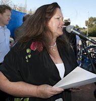 Mining tycoon Gina Rinehart, pictured here in 2010, on Wednesday warned Australia was becoming too expensive for multinational companies who could hire workers for two dollars a day in Africa, sparking criticism from Canberra