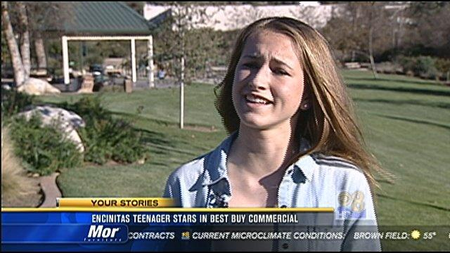 Encinitas teenager stars in Best Buy commercial