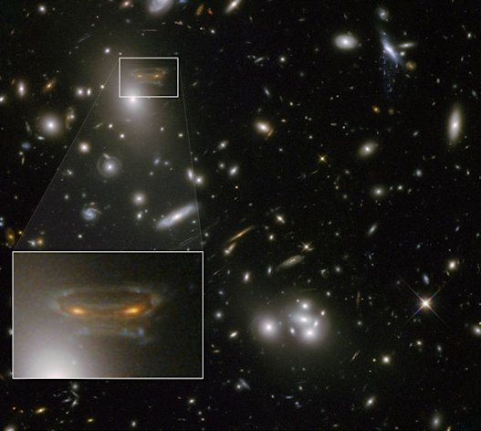 Hubble captures image of 'Space Invader' in distant galaxy ...