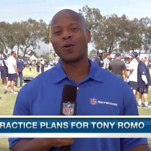 Dallas Cowboys quarterback Tony Romo returns to the practice field