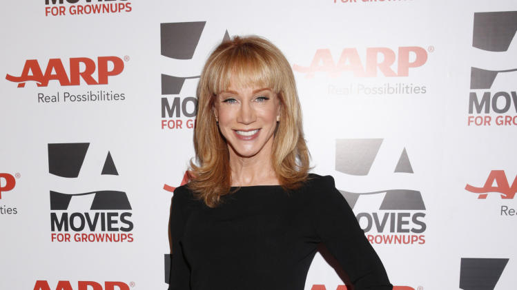 IMAGE DISTRIBUTED FOR AARP MAGAZINE - Kathy Griffin attends AARP The Magazine's 12th Annual Movies for Grownups Awards at The Peninsula Hotel on February 12, 2013 in Beverly Hills, California. (Photo by Todd Williamson/Invision for AARP Magazine/AP Images)