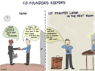 Co Founders Keepers: Find a Suitable Partner or Go Solo image entrepreneurfail Cofounders Keepers 600x450
