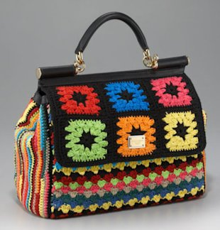 Dolce and Gabbana Knitted Handbag