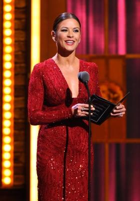Catherine Zeta-Jones dazzles on stage during the 65th Annual Tony Awards at the Beacon Theatre in New York City on June 12, 2011  -- Getty Images