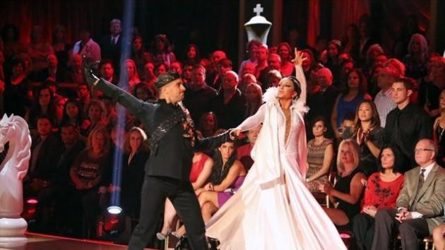 Mark Ballas and Bristol Palin perform during Week 3 of 'Dancing With The Stars: All-Stars,' Oct. 8, 2012 -- ABC