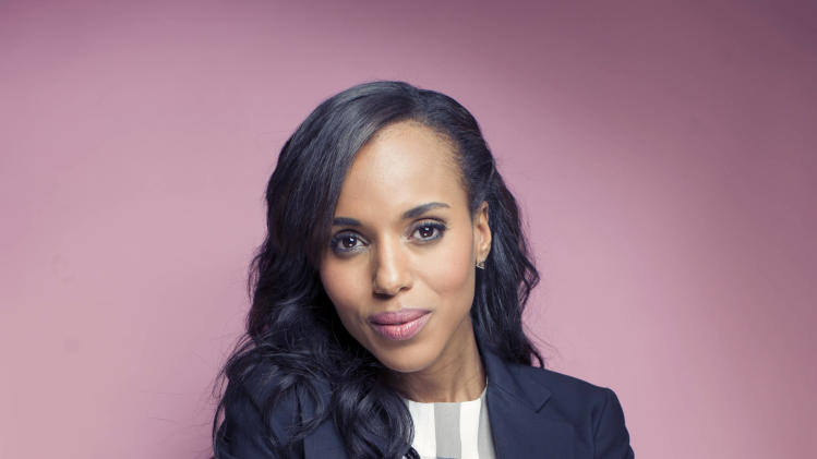 "This Sept. 20, 2012 photo shows American actress Kerry Washington posing for a portrait  in New York.  Washington stars in the series, ""Scandal,"" airing Thursdays at 10 p.m. EST on ABC. (Photo by Victoria Will/Invision/AP)"