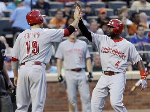 Bruce, Arroyo lead Reds to 7-3 win over Mets