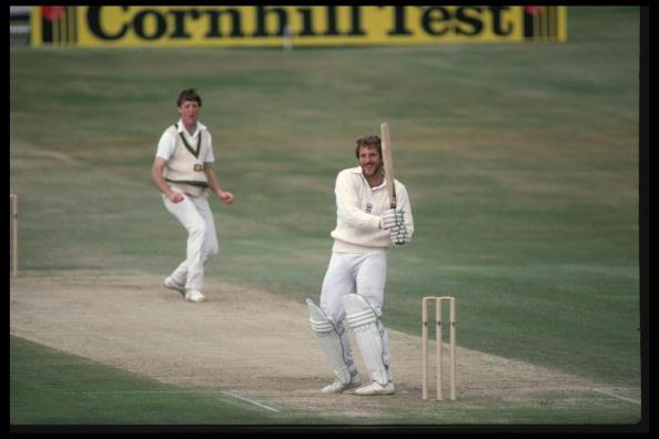 Jul 1981:  Ian Botham hooks Geoff Lawson of Australia for 4 during his magnificent 149 not out in the Historic 3rd Test at Headingley where England defied odds of 500-1 to win, largely thanks to the e