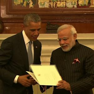 President Obama's making major breakthroughs with India
