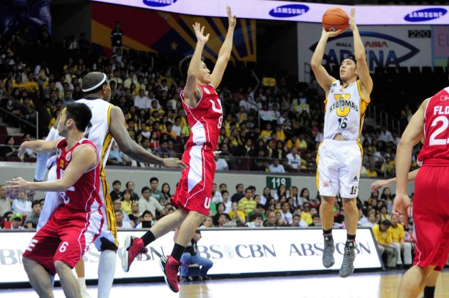 Jeric Teng elevates for a jumper. (NPPA Images)