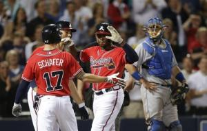 Upton's grand slam lifts Braves past Dodgers 8-5
