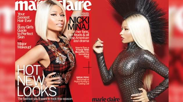 Nicki Minaj on the cover of the August 2013 issue of Marie Claire magazine -- Marie Claire