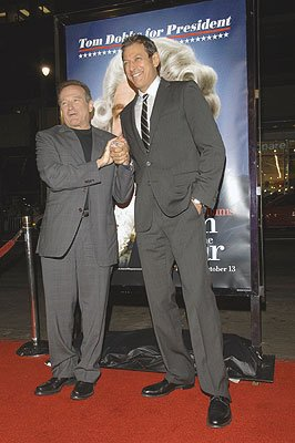 Robin Williams and Jeff Goldblum at the Los Angeles premiere of Universal Pictures' Man of the Year