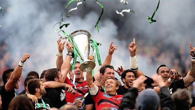 Jonny Wilkinson, centre, led Toulon to a staggering 16-15 Heineken Cup victory over Clermont Auvergne